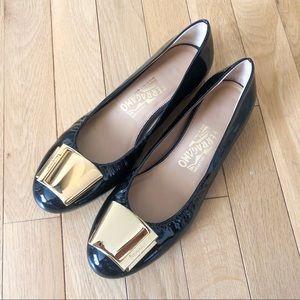 Salvatore Ferragamo Patent Leather Ballet Flats